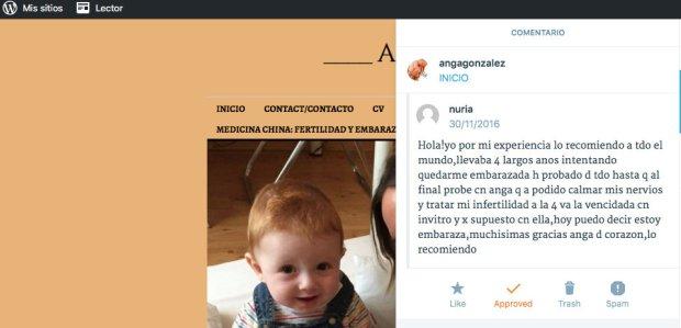 Anga González Barcelona Fertilidad Acupuntura embarazo